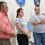 Policía custodia al cuñado de Reynerio y dos abogados, acusados de vender terrenos embargados. Foto EDH / cÉsar avilÉs