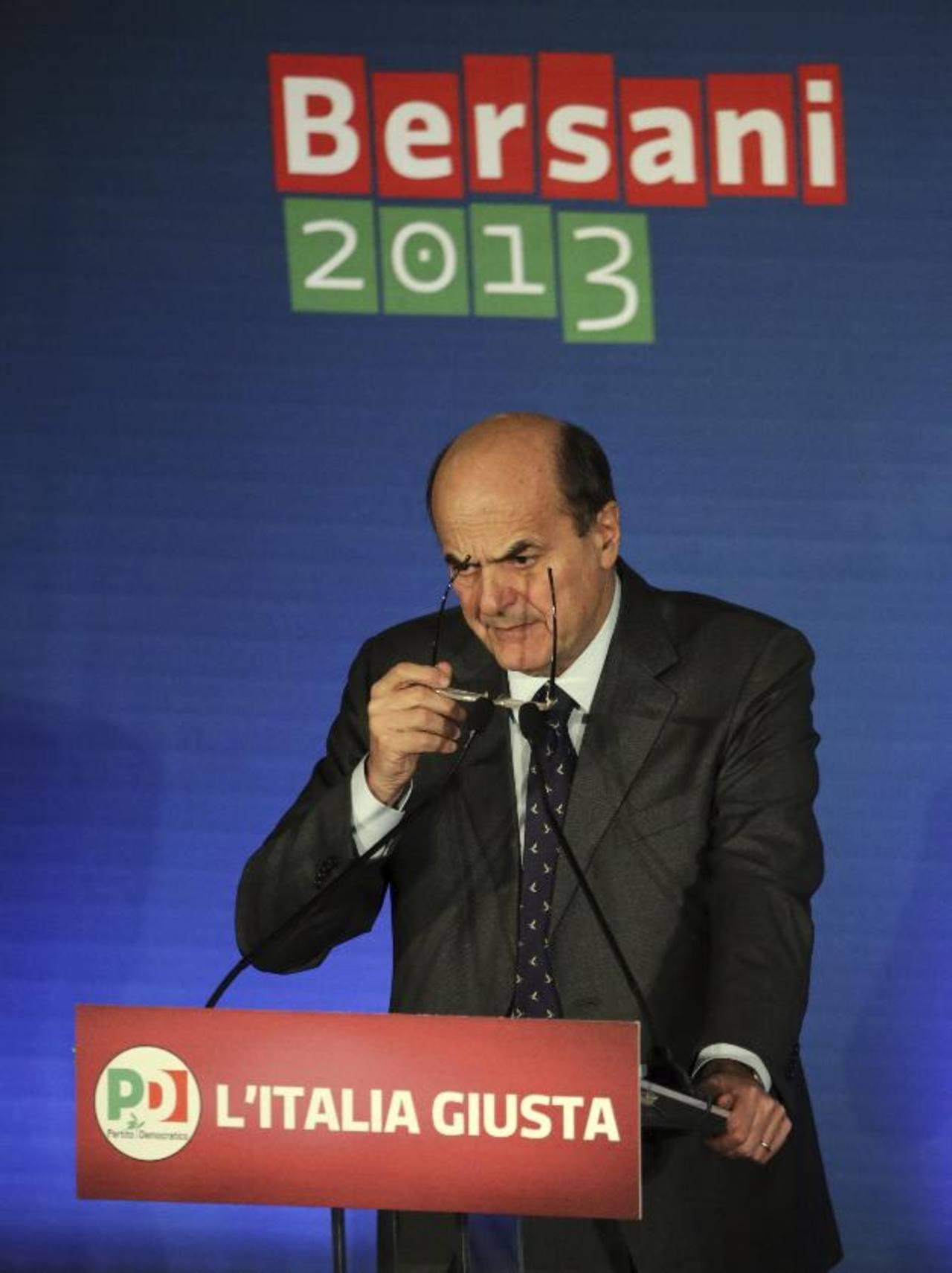 El jefe de la centroizquierda, Pier Luigi Bersani, anunció que propondrá al nuevo Parlamento un plan de Gobierno con una serie de reformas. foto edh / efe