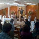 Durante una misa que ofició Monseñor Escobar Alas. Foto tomada de @arzobispadoss