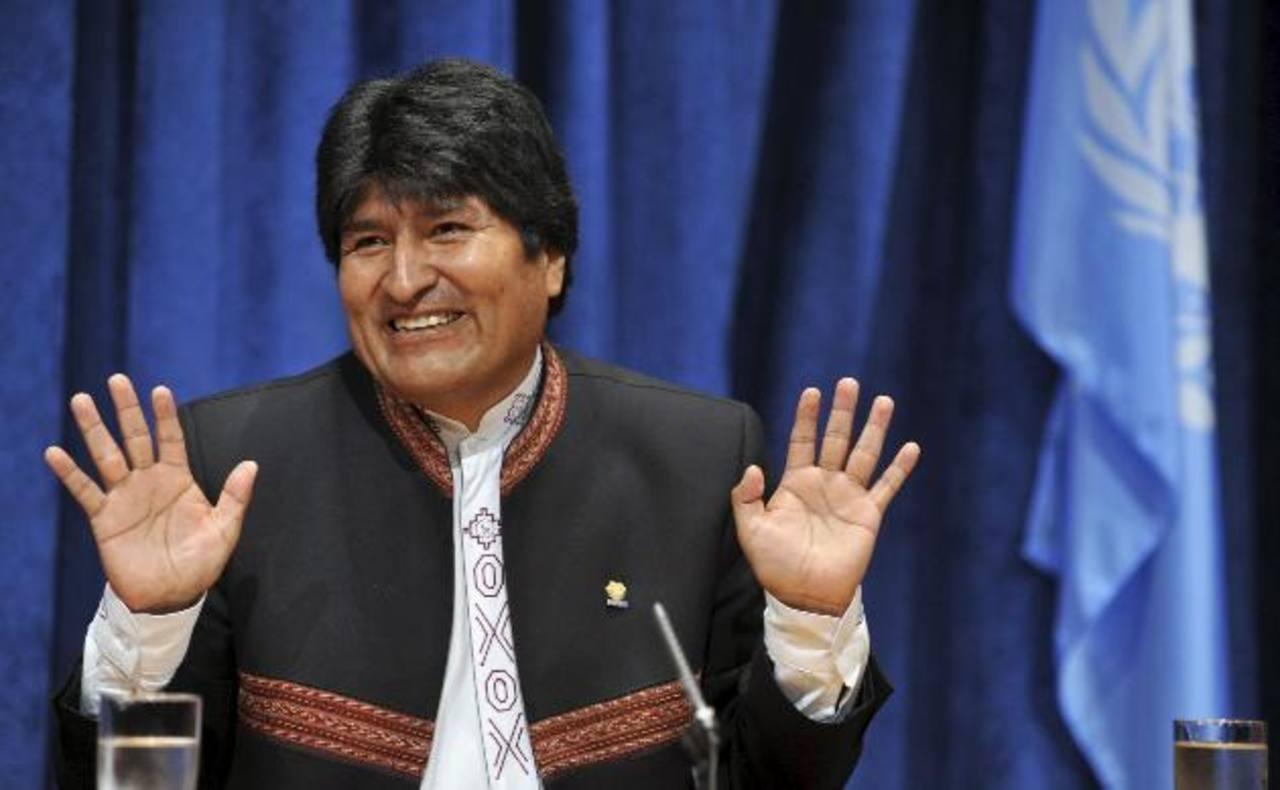 """El presidente de Bolivia Evo Morales admitió que ya se halla """"en campaña"""" para un nuevo mandato en las elecciones generales del próximo año. foto edh / archivo"""