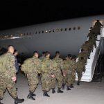 Militares viajaron a Haití en un avión de la Fuerza Armada chilena para colaborar en la paz de ese país. Foto EDH / FAES.