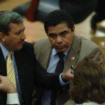 Legisladores de ARENA en un momento de la sesión plenaria. Foto EDH / Jorge reyes