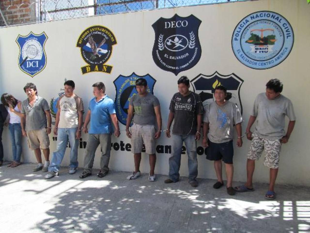 Capturados fueron presentados ayer en la PNC.