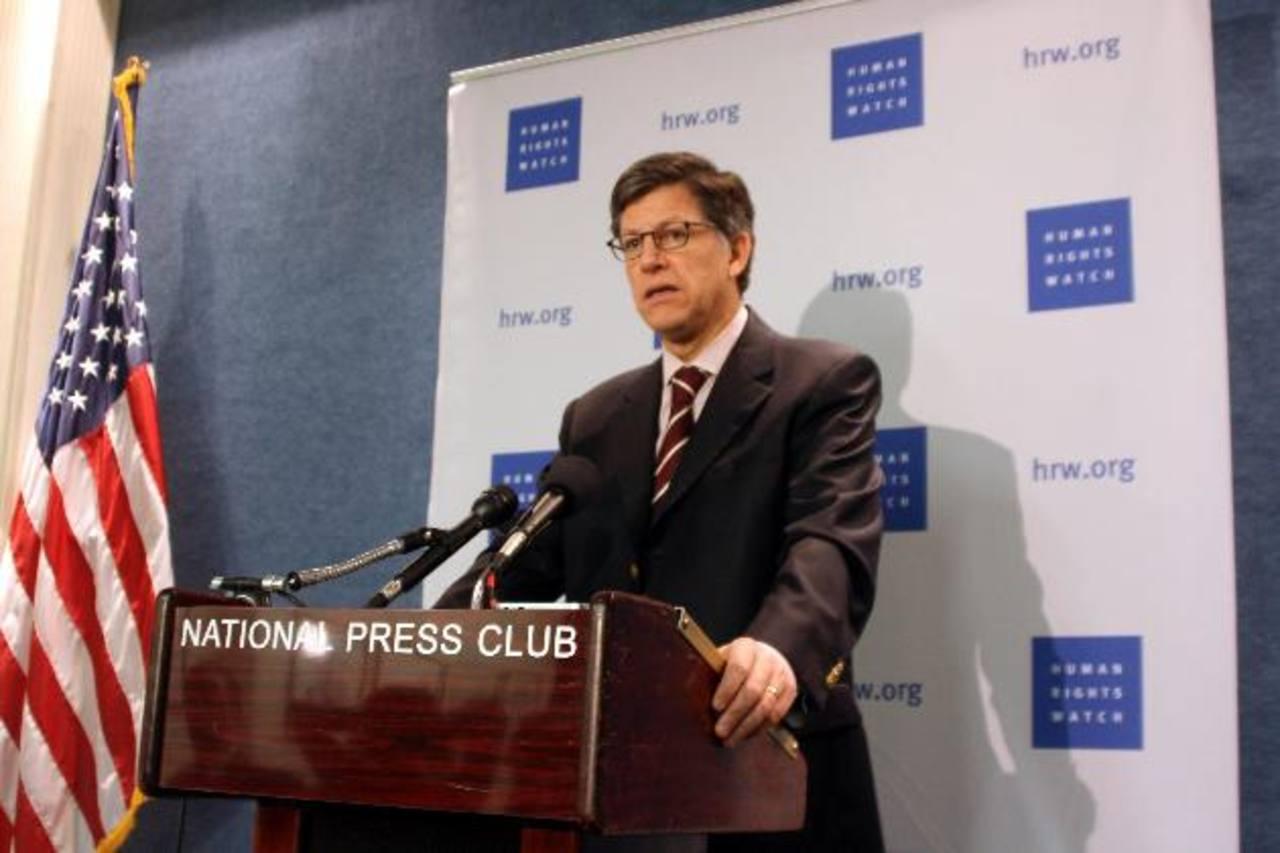 El director para América de Human Rights Watch (HRW), José Miguel Vivanco, en el National Press Club en Washington, DC.