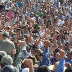 No menos de mil exmilitares asistieron a la actividad en el Monumento al Salvador del Mundo. Foto EDH / Lissette Lemus.