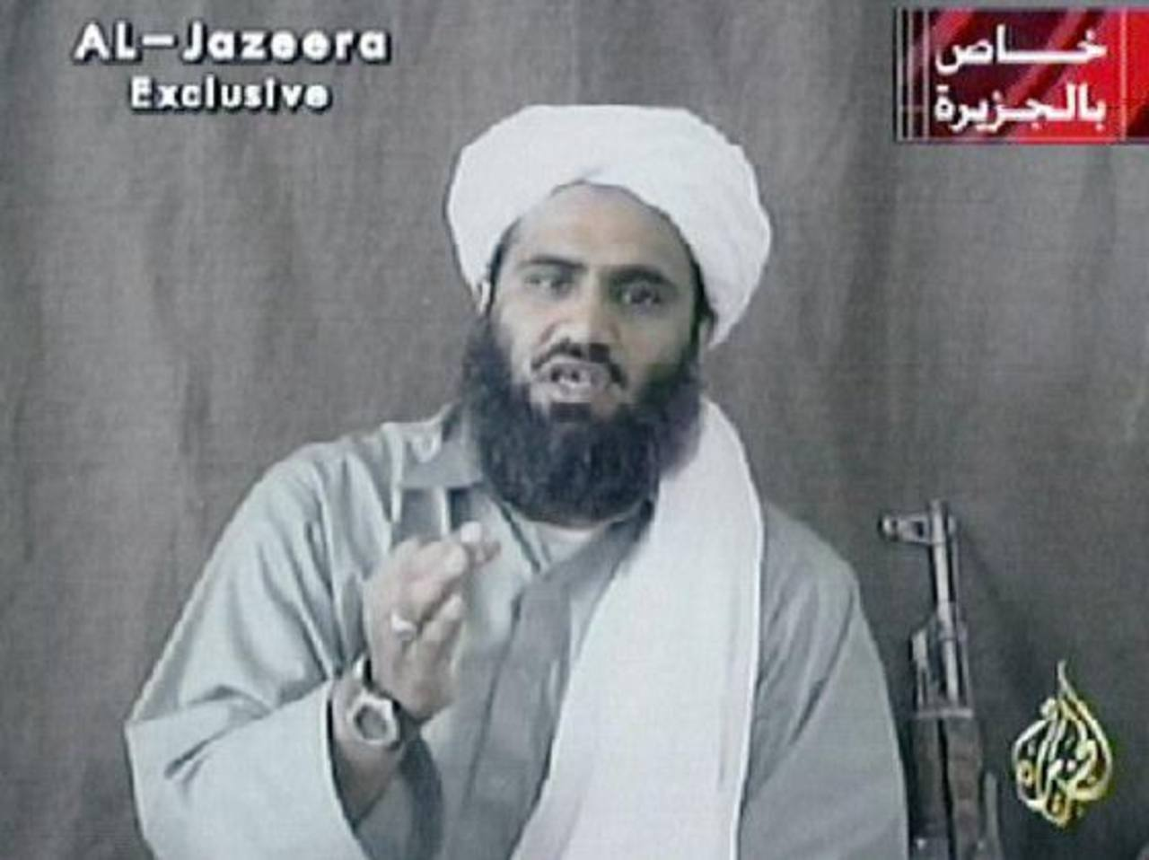 Toma de un video de Suleimán Abu Ghaith, portavoz de Al Qaeda.