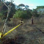 Esta es la zona del hallazgo de los cadáveres. FOTO EDH Oscar Iraheta, vía Twitter.