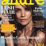 La imagen de Katie Holmes es la portada de la edición de abril de Allure. Foto/ AP