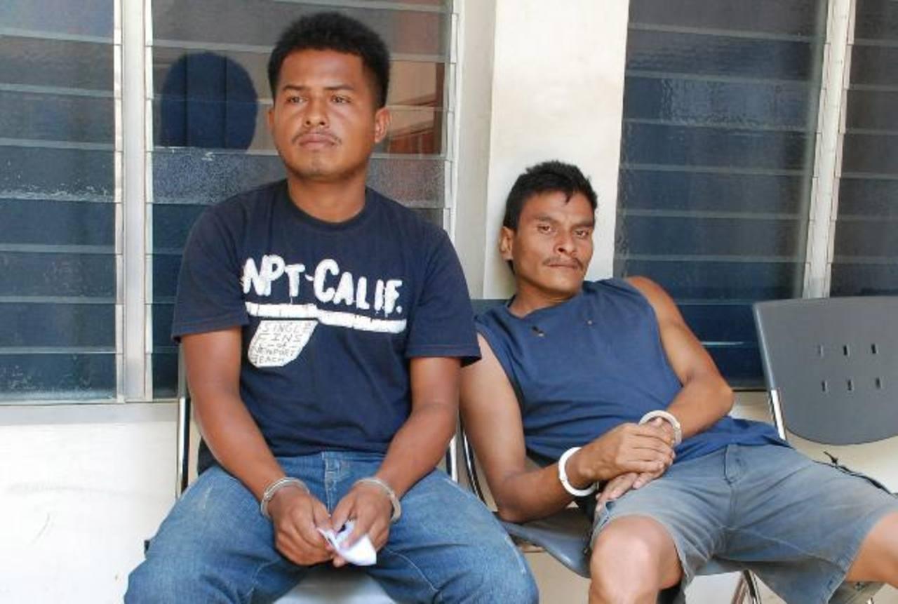 Los hondureños capturados en El Amatillo, La Unión, cuando pretendían salir a su país.