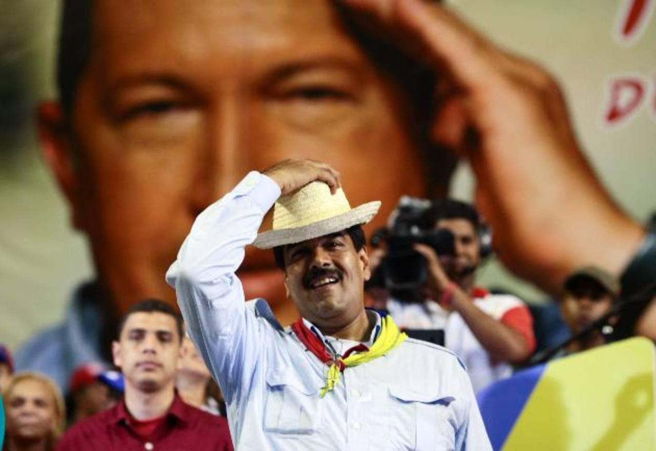 El presidente encargado de Venezuela, Nicolás Maduro, en la localidad de Margarita, Estado Nueva Esparta. foto edh / efe