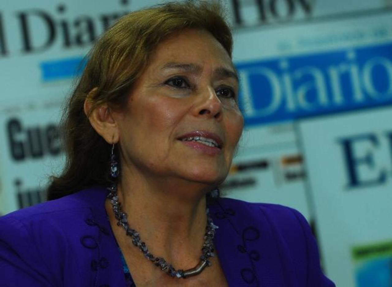Cristina Moreira de Gutiérrez, actualmente es directora de la consultora y despacho Gutiérrez Moreira & Asociados. FOTO EDH / leonardo gónzalez