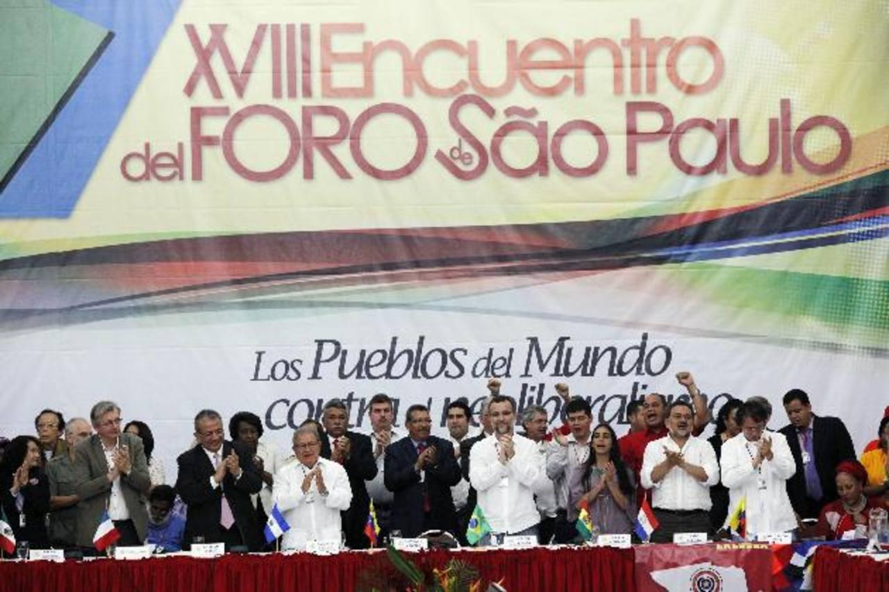 El foro Sao Paulo del año pasado se desarrolló en Caracas y entre otros asistió el vicepresidente Salvador Sánchez Cerén. fotos edh /archivo