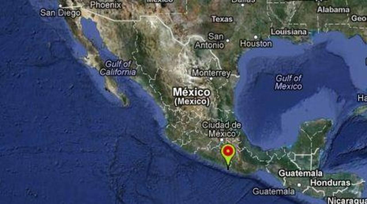 FOto tomada del Servicio Sismológico nacional de México.