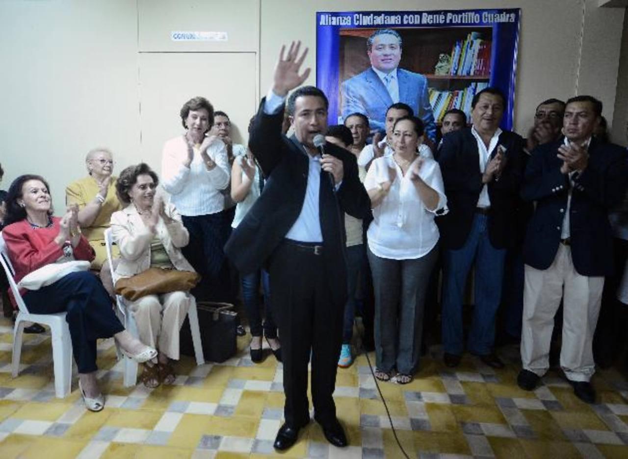 """La sede de """"Alianza Ciudadana"""", en apoyo a la candidatura René Portillo Cuadra, fue inaugurada el lunes. foto edh / ARCHIVO"""