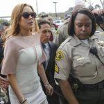 Lohan a su llegada a la Corte Superior de Los Ángeles. FOTO AP
