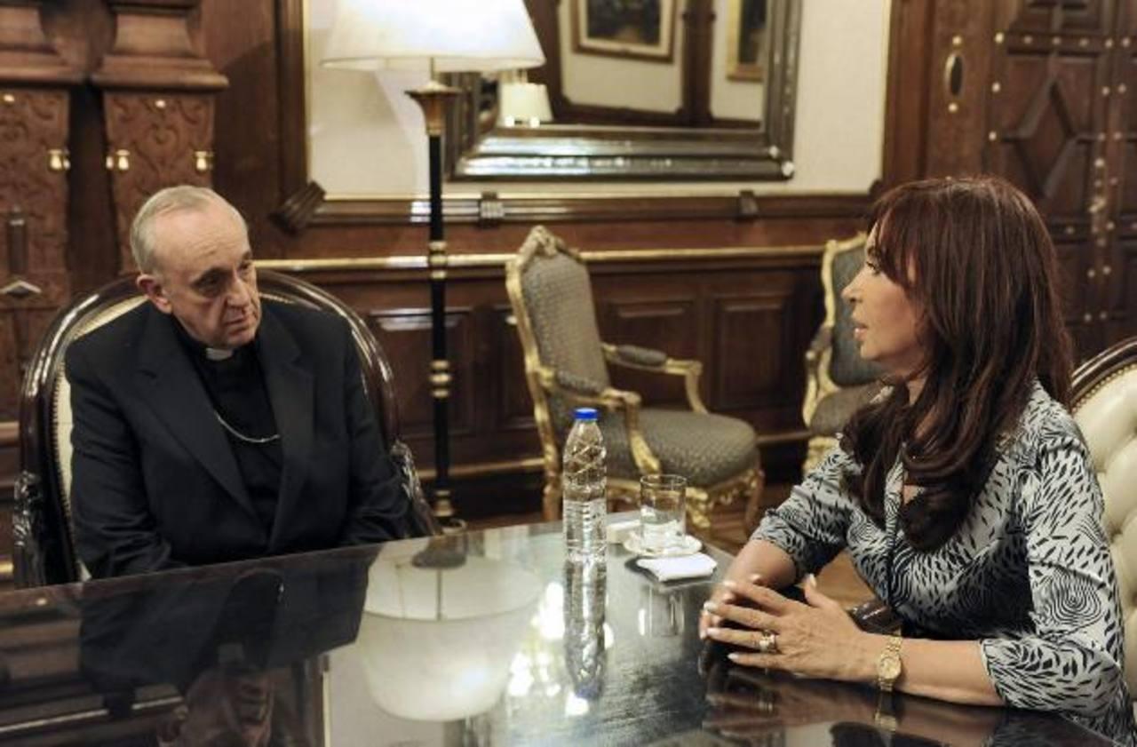 Imagen del 18 de marzo de 2010, de la reunión entre la presidenta Cristina Fernández y el cardenal Jorge Bergoglio.