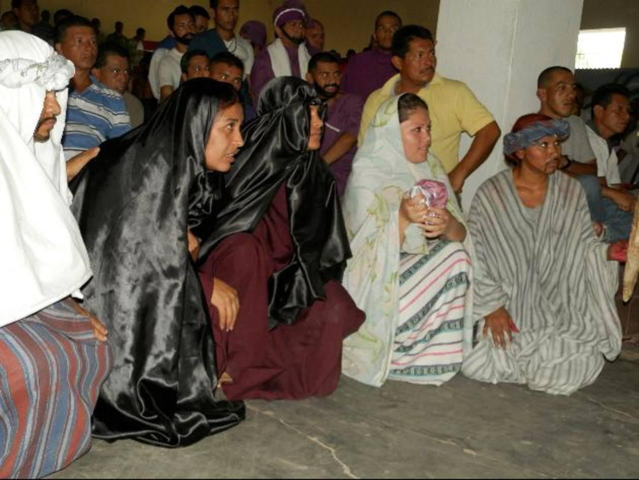 Privados de libertad de Apanteos también celebran la Semana Santa. Foto EDH / Milton Jaco