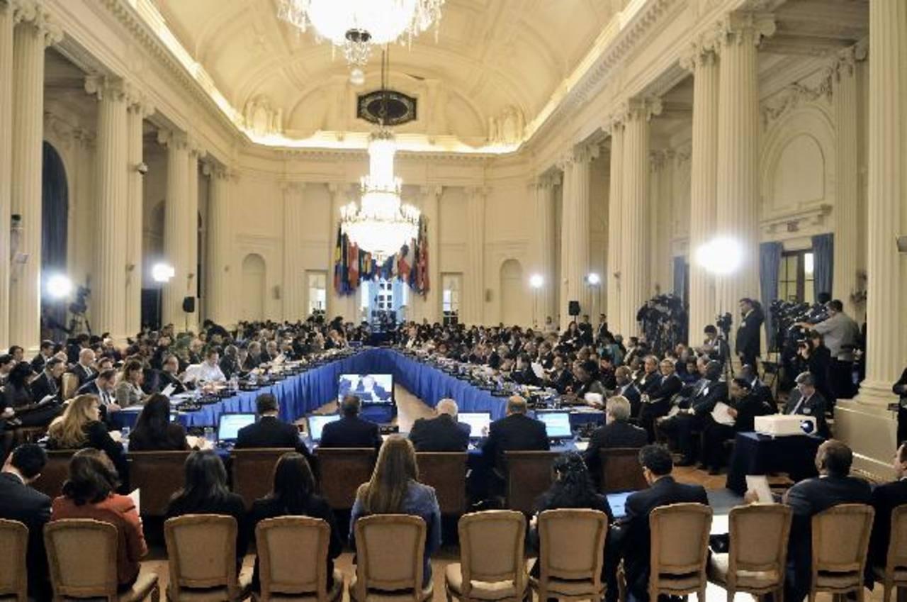 Más de 35 países participaron en la Asamblea General de la OEA. Al final se acordó mantener las facultades de la CIDH y buscar mayor financiamiento. Ecuador, Venezuela, Bolivia y Nicaragua no acompañaron el acuerdo. Foto EDH / cortesía OEA
