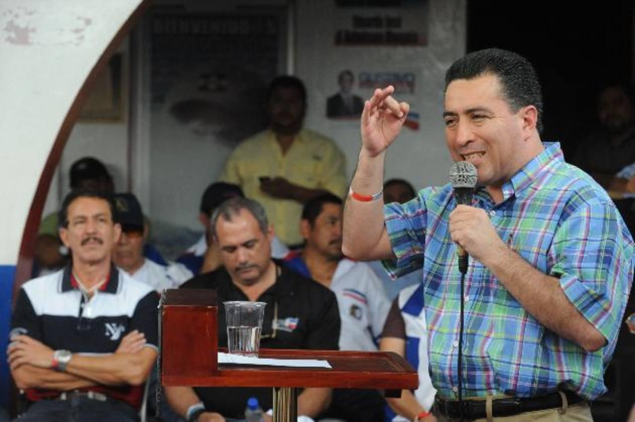 Portillo Cuadra pidió a sus correligionarios hacer un esfuerzo extra para ganar las elecciones. foto EDH / lissette monterrosa