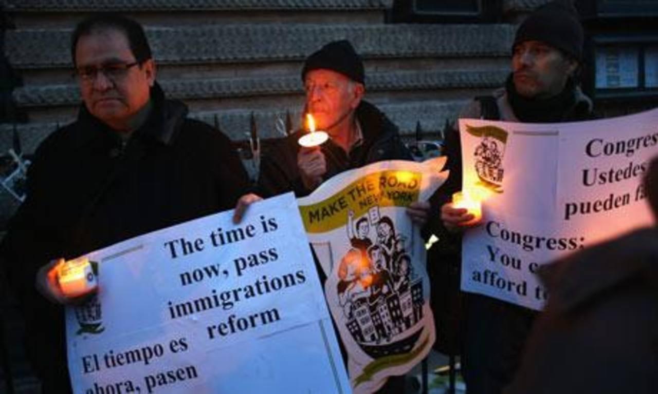 Una vigilia para pedir la reforma migratoria.