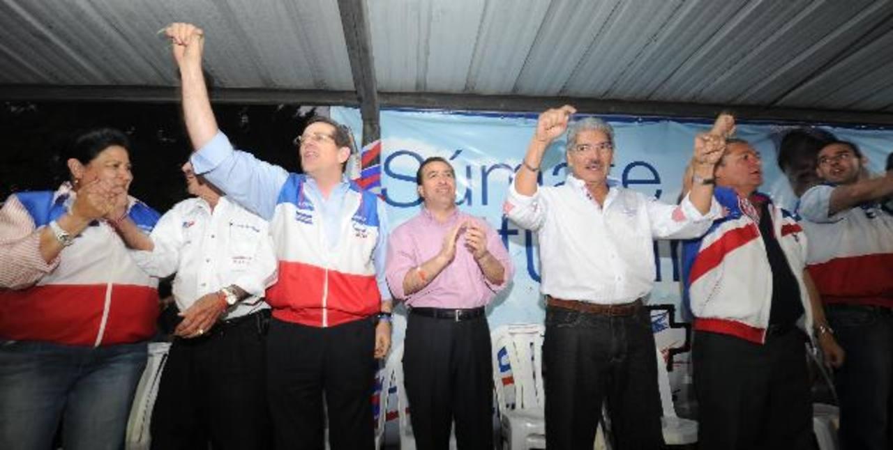 Jorge Velado, René Portillo Cuadra, Norman Quijano y Jaime Lindo. foto edh / douglas urquilla