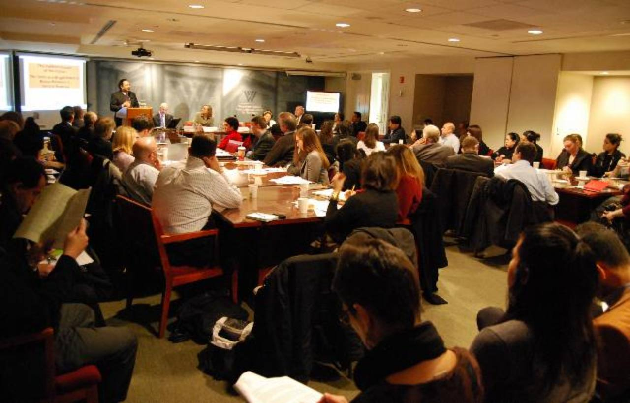 El Centro Woodrow Wilson, en Washington, fue el escenario donde se discutió la evolución de las pandillas en C.A. Foto EDH