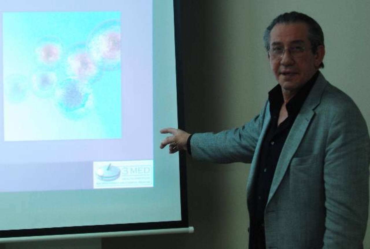 El doctor Álvaro Skupin ha capacitado a médicos en todo mundo en terapias de células madre, bajo los más estrictos estándares de calidad. EDH /marlon Hernández