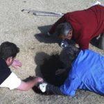 Mark Mihal fue rescatado por sus amigos. El incidente ocurrió el 8 de marzo. Foto/ AP
