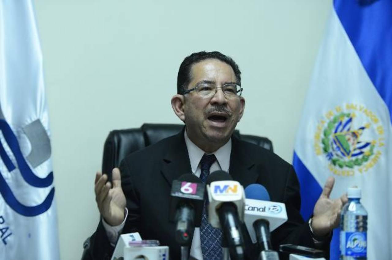 Eugenio Chicas, presidente del Tribunal Supremo Electoral, dijo que podrían pedir refuerzo al presupuesto. Foto EDH / archivo