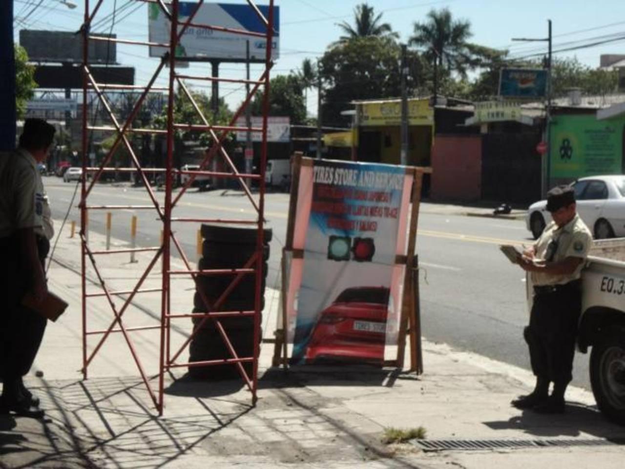 La municipalidad prevé inspeccionar más zonas de la ciudad, entre ellas Santa Elena y las cercanías de la UCA. foto edh /CORTESÍA