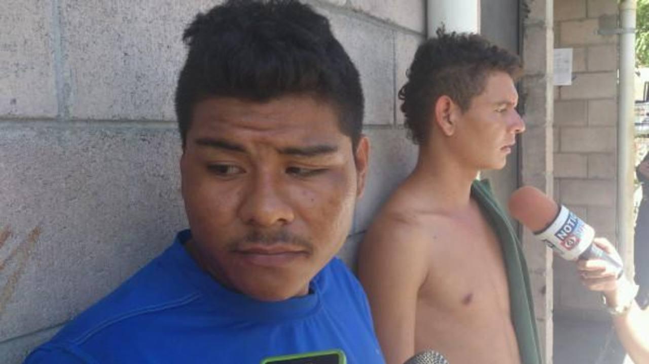 Los detenidos fueron presentados en San Miguel. FOTO EDH FRancisco Torres, vía Twitter.