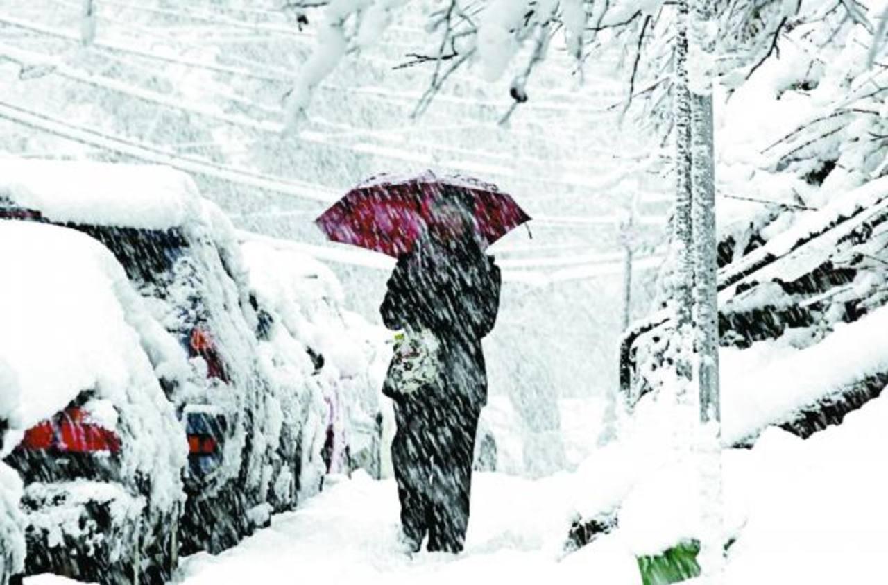 En el estado de Virginia fue declarado el estado de emergencia por las nevadas. foto edh / ap