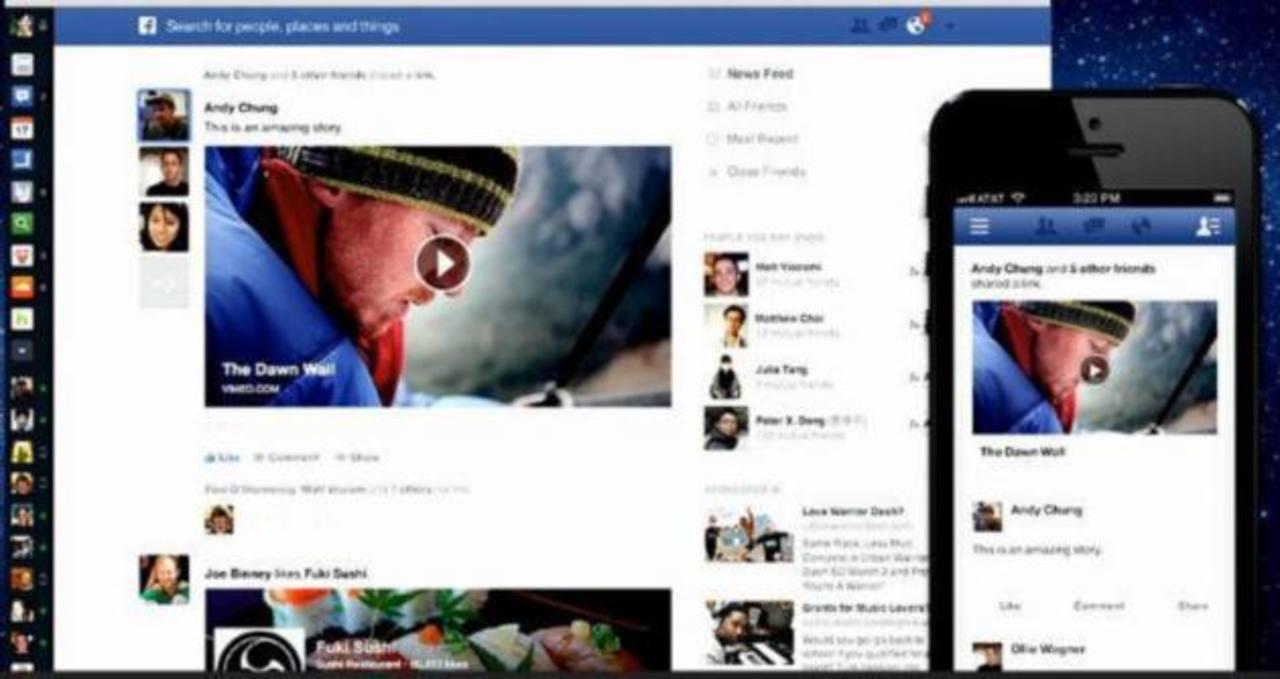 Facebook se rediseña