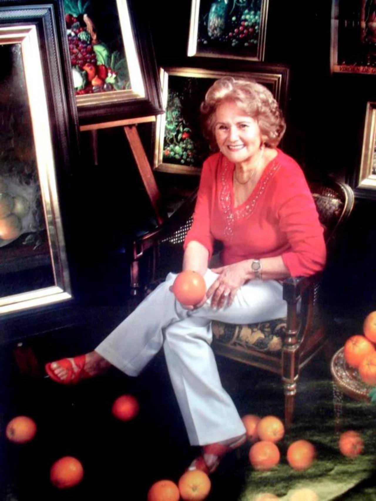 La pintora falleció en diciembre de 2012. Su trabajo aún se recuerda por la calidad de la técnica y color que llego a desarrollar. Foto Edh / Cortesía