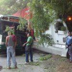 El accidente ocurrió sobre el km 30 y medio de la carretera que de Santa Ana viaja a San Salvador. Foto tomada del Twitter de @UrquilloSV