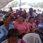 Mujeres presentes en la inauguración del proyecto en San Martín. Foto vía @SecInclusionSV