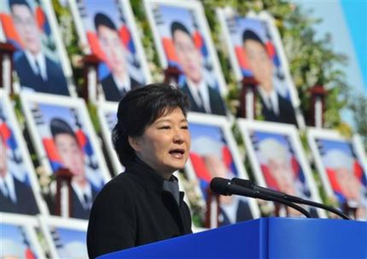 En la foto la presidenta de Corea del Sur, Park Geun-hye.