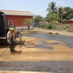 La semana anterior, las autoridades comenzaron con la colocación del asfalto en la vía. foto edh / Cortesía