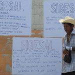 Protesta en el Hospital Psiquiátrico, de Soyapango, ayer. Hubo ocho establecimientos más en protesta.