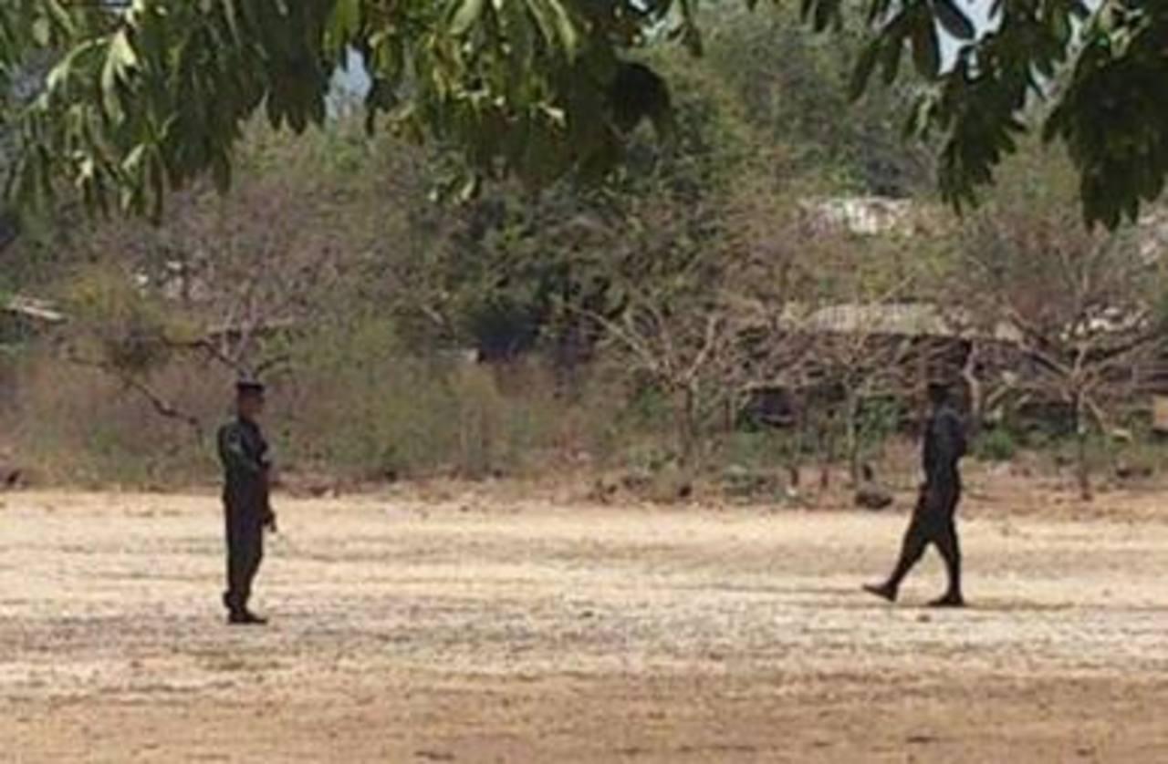 Un hombre fue asesinado en la cancha del cantón Huisquil, Conchagua, La Unión. Foto vía Twitter Insy Mendoza