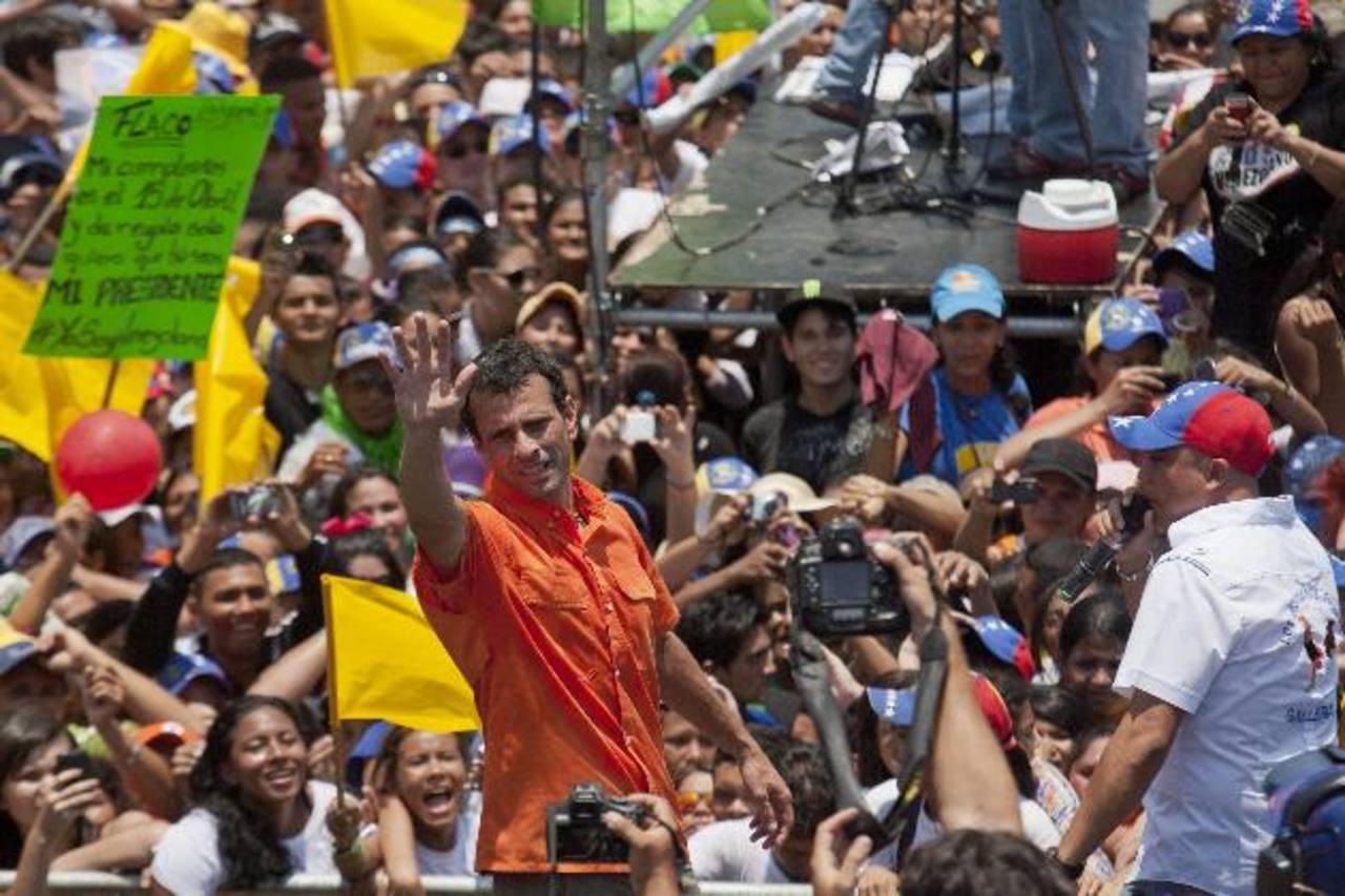 Henrique Capriles Radonski dijo que hoy defenderá cada voto para llegar a la presidencia. Foto EDH / archivo