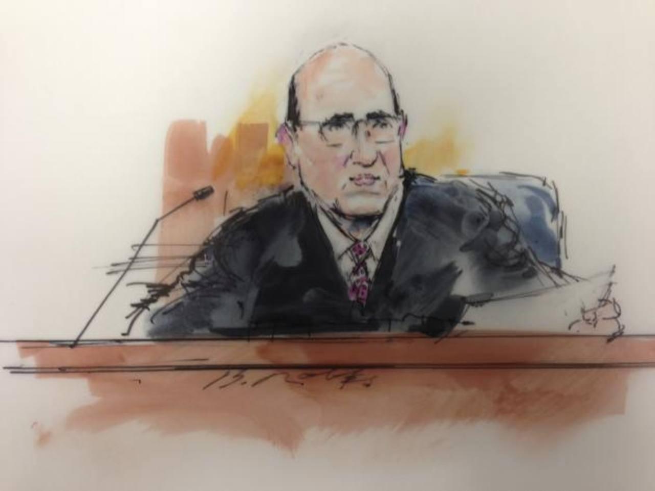Juez Carlos Armando Samour, ilustración facilitada por medios locales