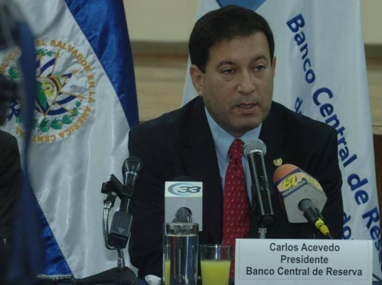 El presidente del BCR, Carlos Acevedo. Foto/ Archivo