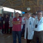 Algunos médicos del Seguro Social escuchan la conferencia de Simetrisss. Foto EDH / Yamileth Cáceres