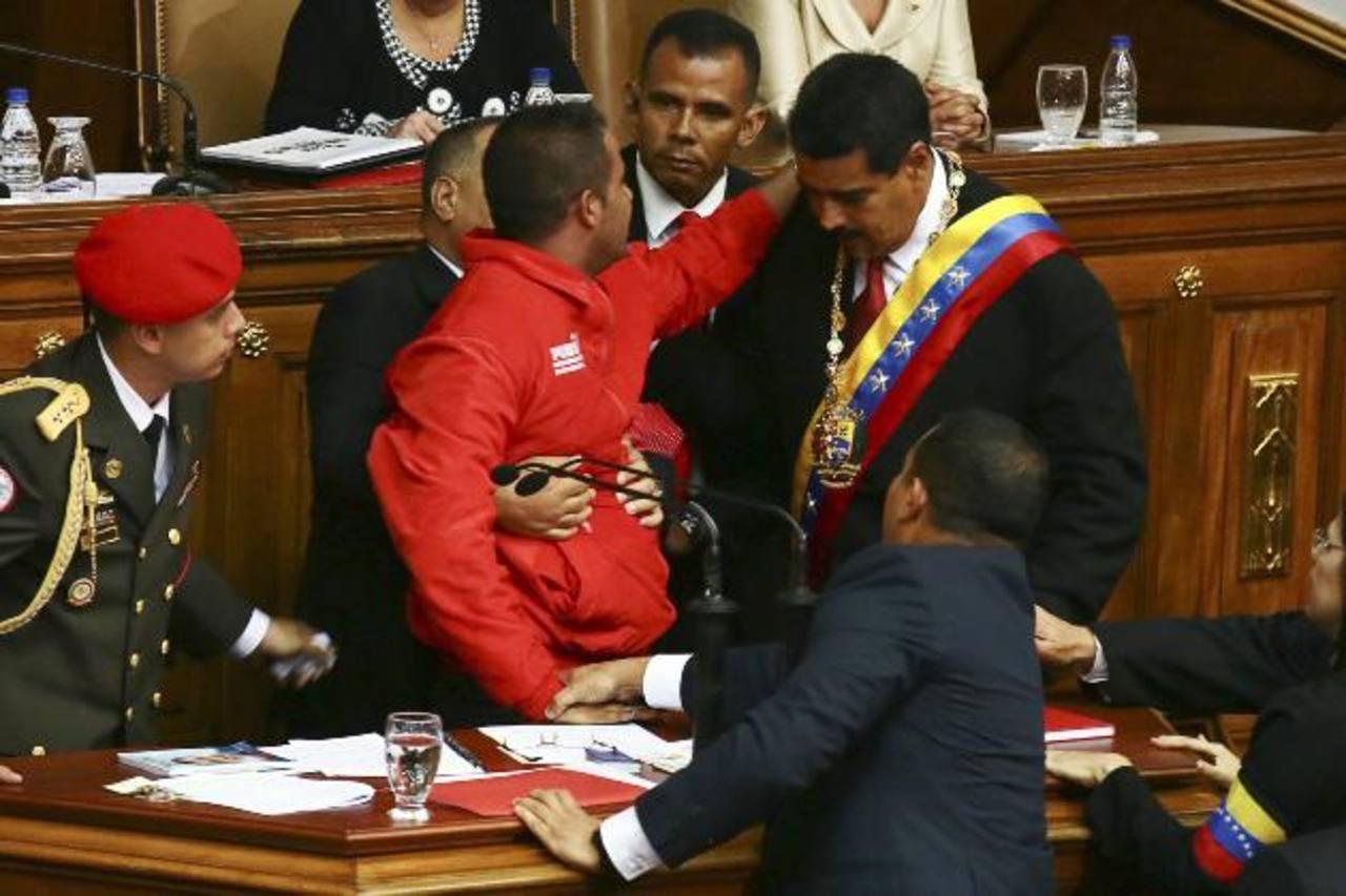 Yendri Sánchez González, fue capturado tras subirse al podio en donde Nicolás Maduro era investido como presidente.