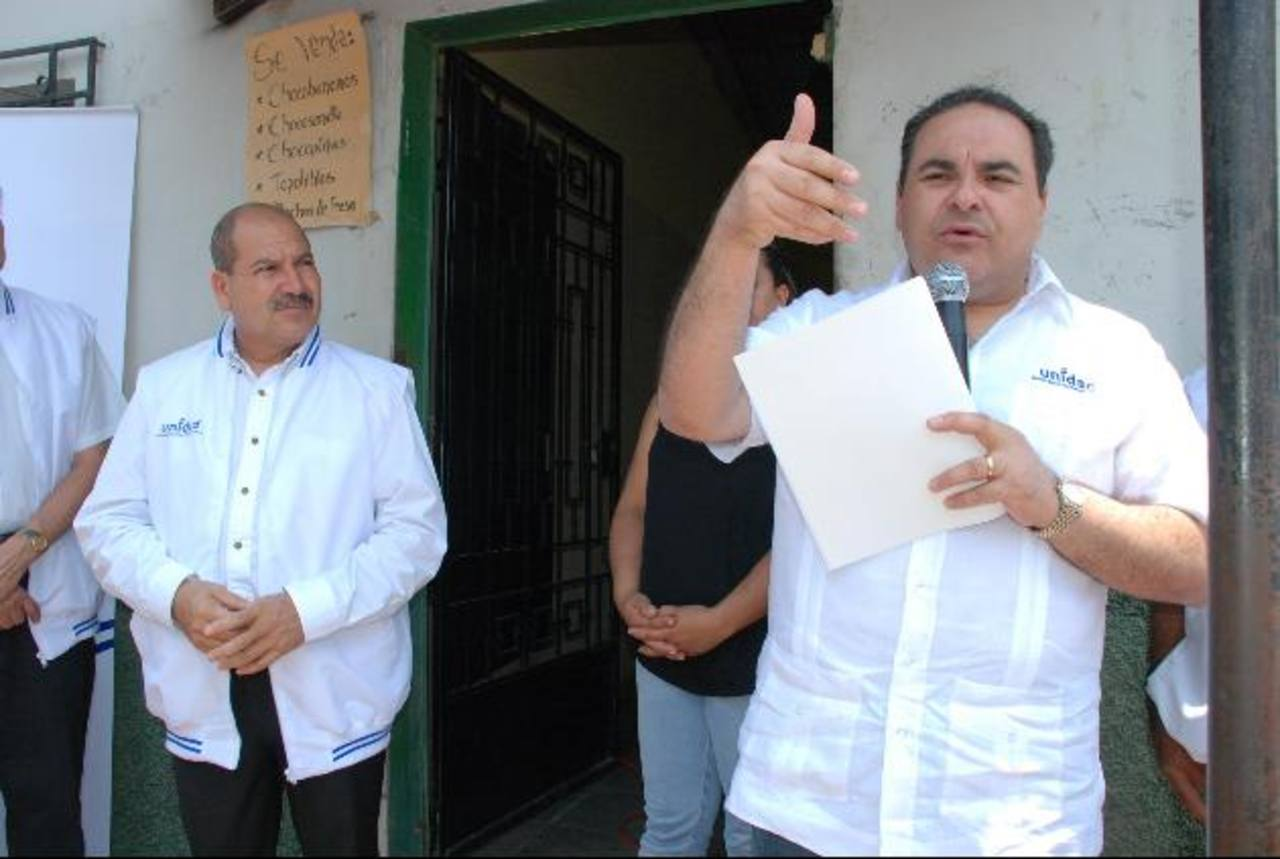 Saca dijo tener 12 propuestas, una de ellas es facilitar la inversión en el país de residentes en E.E.U.U. foto edh / CRISTIAN DIAZ