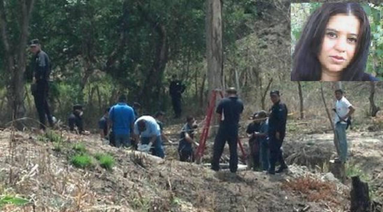 El cadáver de María Raquel de Molina, de 34 años, fue recuperado del interior de un pozo. Foto vía Twitter Diana Escalante