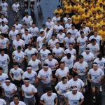 La maratón militar en honor al Divino Salvador del mundo durante las festividades de San Salvador. Foto/ Archivo
