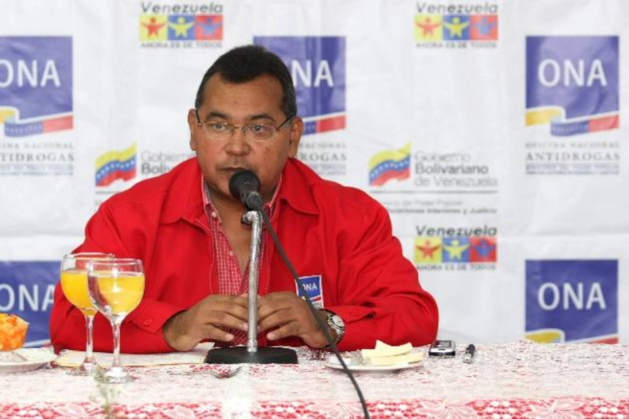 Néstor Reverol, ministro del Interior de Venezuela, dice que ya están investigando el paradero de supuestos desestabilizadores. foto edh / efe