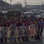 La protesta afectó por varias horas el tráfico vehicular. Foto vía Twitter Mario Amaya